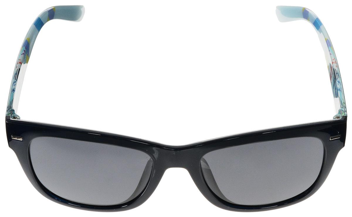 Очки солнцезащитные женские Vitacci, цвет: темно-синий, мультицвет. H95H95Стильные солнцезащитные очки Vitacci выполнены из высококачественного пластика с элементами из металла. Линзы данных очков имеют степень затемнения С3. Используемый пластик не искажает изображение, не подвержен нагреванию и вредному воздействию солнечных лучей. Пластиковая оправа очков легкая, прилегающей формы и поэтому обеспечивает максимальный комфорт. Дужки с внутренней стороны оформлены оригинальным принтом. Такие очки защитят глаза от ультрафиолетовых лучей, подчеркнут вашу индивидуальность и сделают ваш образ завершенным.