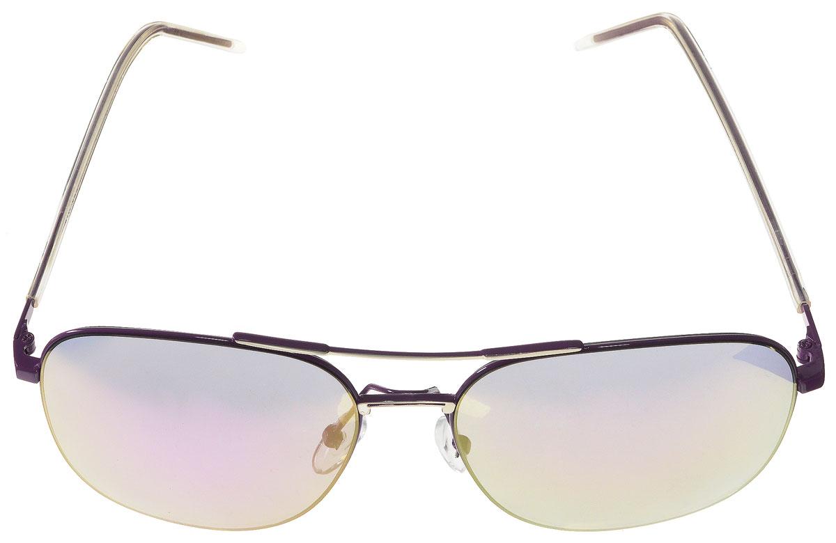 Очки солнцезащитные женские Vitacci, цвет: фиолетовый. O174O174Стильные солнцезащитные очки Vitacci выполнены из металла с элементами из высококачественного пластика. Линзы данных очков имеют степень затемнения С1, а также обладают высокоэффективным поляризационным покрытием со степенью защиты от ультрафиолетового излучения UV400. Используемый пластик не искажает изображение, не подвержен нагреванию и вредному воздействию солнечных лучей. Оправа очков легкая, прилегающей формы, дополнена носоупорами и поэтому обеспечивает максимальный комфорт. Такие очки защитят глаза от ультрафиолетовых лучей, подчеркнут вашу индивидуальность и сделают ваш образ завершенным.