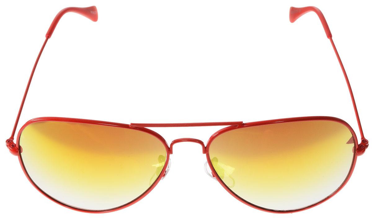 Очки солнцезащитные женские Vitacci, цвет: красный. H38H38Стильные солнцезащитные очки Vitacci выполнены из металла с элементами из высококачественного пластика. Линзы данных очков обладают высокоэффективным поляризационным покрытием со степенью защиты от ультрафиолетового излучения UV400. Используемый пластик не искажает изображение, не подвержен нагреванию и вредному воздействию солнечных лучей. Оправа очков легкая, прилегающей формы, дополнена носоупорами и поэтому обеспечивает максимальный комфорт. Такие очки защитят глаза от ультрафиолетовых лучей, подчеркнут вашу индивидуальность и сделают ваш образ завершенным.