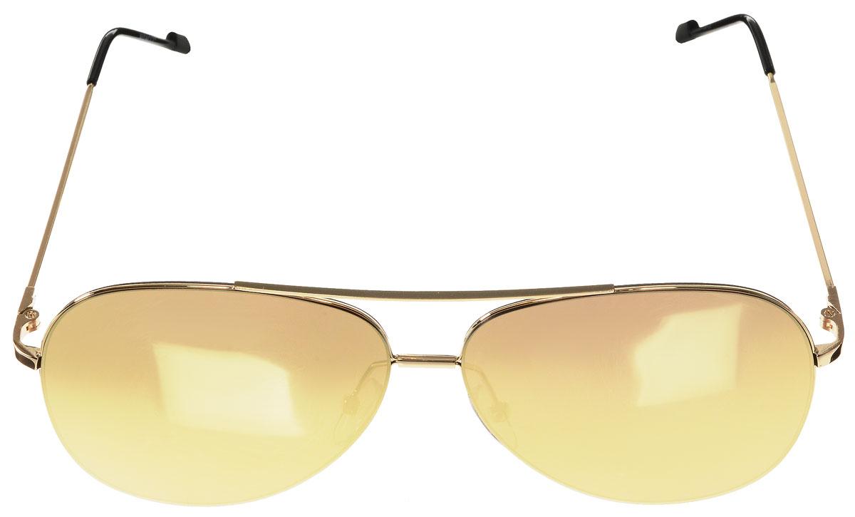 Очки солнцезащитные женские Vitacci, цвет: золотой, черный. O183O183Стильные солнцезащитные очки Vitacci выполнены из металла с элементами из высококачественного пластика. Линзы данных очков имеют степень затемнения С3, а также обладают высокоэффективным поляризационным покрытием со степенью защиты от ультрафиолетового излучения UV400. Используемый пластик не искажает изображение, не подвержен нагреванию и вредному воздействию солнечных лучей. Оправа очков легкая, прилегающей формы, дополнена носоупорами и поэтому обеспечивает максимальный комфорт. Такие очки защитят глаза от ультрафиолетовых лучей, подчеркнут вашу индивидуальность и сделают ваш образ завершенным.