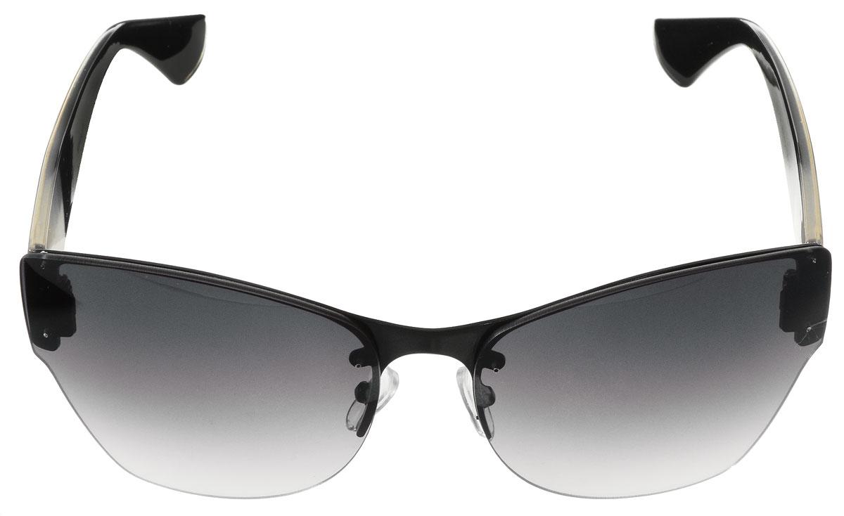 Очки солнцезащитные женские Vitacci, цвет: черный, прозрачный. H65H65Стильные солнцезащитные очки Vitacci выполнены из металла с элементами из высококачественного пластика. Линзы данных очков имеют степень затемнения С4, а также обладают высокоэффективным поляризационным покрытием со степенью защиты от ультрафиолетового излучения UV400. Используемый пластик не искажает изображение, не подвержен нагреванию и вредному воздействию солнечных лучей. Оправа очков легкая, прилегающей формы, дополнена носоупорами и поэтому обеспечивает максимальный комфорт. Такие очки защитят глаза от ультрафиолетовых лучей, подчеркнут вашу индивидуальность и сделают ваш образ завершенным.