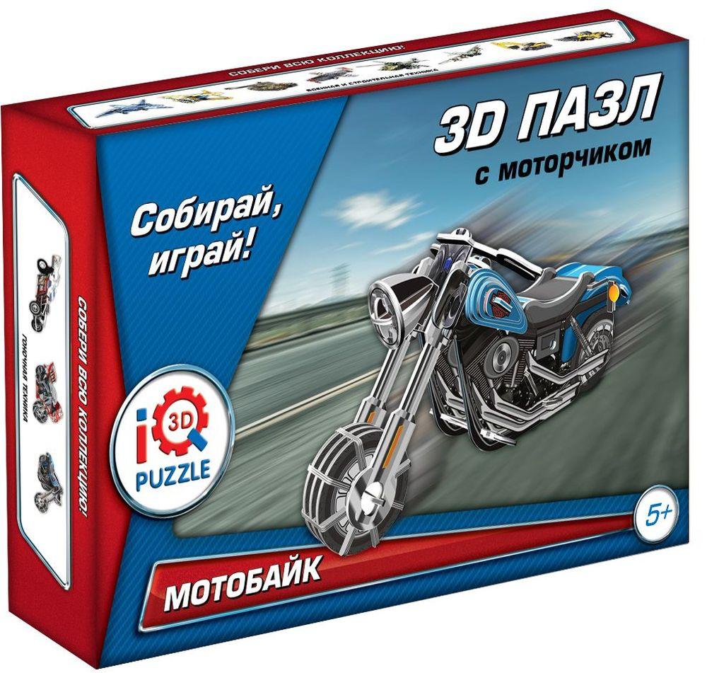 Iq3DPuzzle Пазл Мотоцикл Wide G инерционныйFT200113D Пазл Мотоцикл Wide G (Синий), инерционный .Размер собранного пазла 7.