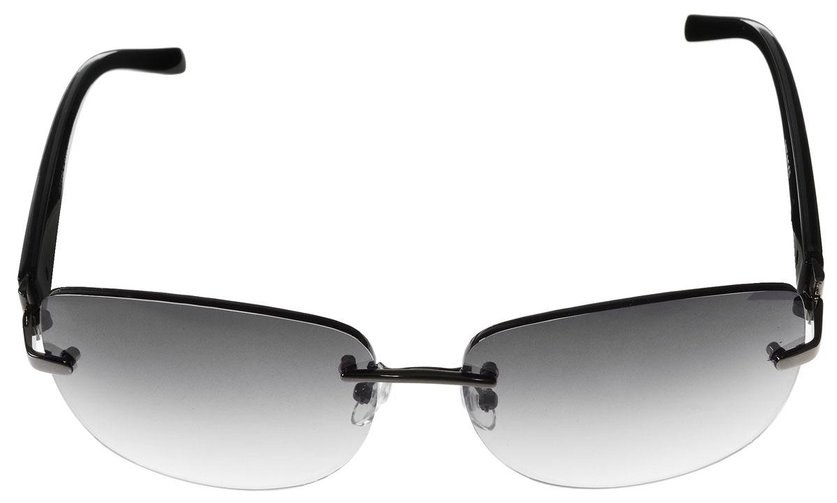 Очки солнцезащитные женские Vitacci, цвет: черный. O140O140Стильные солнцезащитные очки Vitacci выполнены из металла и высококачественного пластика. Линзы данных очков обладают высокоэффективным поляризационным покрытием со степенью защиты от ультрафиолетового излучения UV400. Используемый пластик не искажает изображение, не подвержен нагреванию и вредному воздействию солнечных лучей. Оправа очков легкая, прилегающей формы, дополнена носоупорами и поэтому обеспечивает максимальный комфорт. Такие очки защитят глаза от ультрафиолетовых лучей, подчеркнут вашу индивидуальность и сделают ваш образ завершенным.