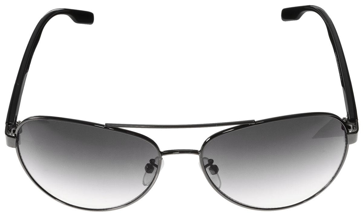 Очки солнцезащитные женские Vitacci, цвет: черный. G143G143Стильные солнцезащитные очки Vitacci выполнены из металла и высококачественного пластика. Линзы данных очков имеют степень затемнения С1, а также обладают высокоэффективным поляризационным покрытием со степенью защиты от ультрафиолетового излучения UV400. Используемый пластик не искажает изображение, не подвержен нагреванию и вредному воздействию солнечных лучей. Оправа очков легкая, прилегающей формы, дополнена носоупорами и поэтому обеспечивает максимальный комфорт. Такие очки защитят глаза от ультрафиолетовых лучей, подчеркнут вашу индивидуальность и сделают ваш образ завершенным.