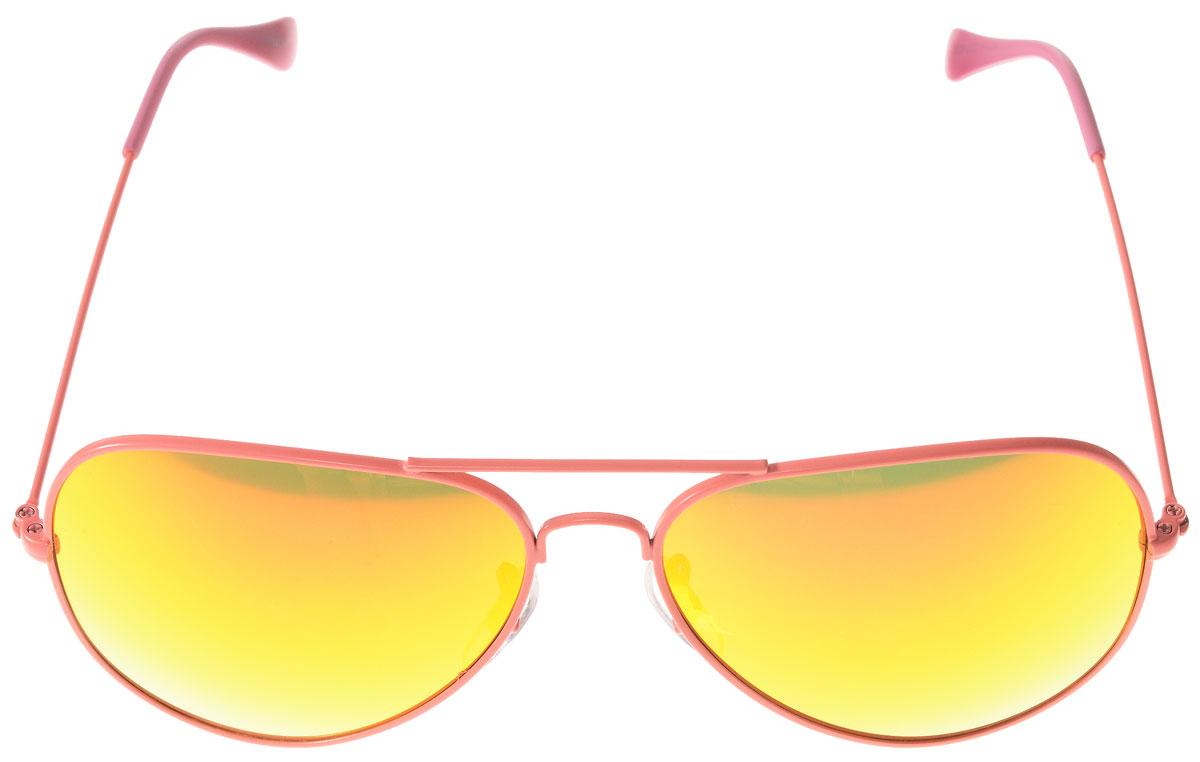 Очки солнцезащитные женские Vitacci, цвет: розовый. H40H40Стильные солнцезащитные очки Vitacci выполнены из металла с элементами из высококачественного пластика. Линзы данных очков обладают высокоэффективным поляризационным покрытием со степенью защиты от ультрафиолетового излучения UV400. Используемый пластик не искажает изображение, не подвержен нагреванию и вредному воздействию солнечных лучей. Оправа очков легкая, прилегающей формы, дополнена носоупорами и поэтому обеспечивает максимальный комфорт. Такие очки защитят глаза от ультрафиолетовых лучей, подчеркнут вашу индивидуальность и сделают ваш образ завершенным.
