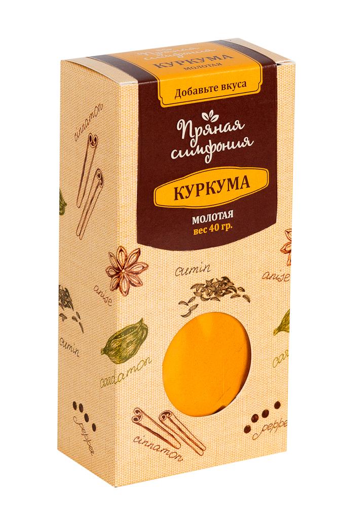 Пряная Симфония Куркума молотая, 40 гМ4597Так как в основном куркума используется как пряность, то и вкус она имеет соответствующий: пряный, немного жгучий. Куркума продлевает срок годности продуктов, и дарит им свежесть. Даже небольшое ее количество может придать блюду неповторимый вкус и аромат, что активно используют при приготовлении различных маринадов, соусов и десертов.