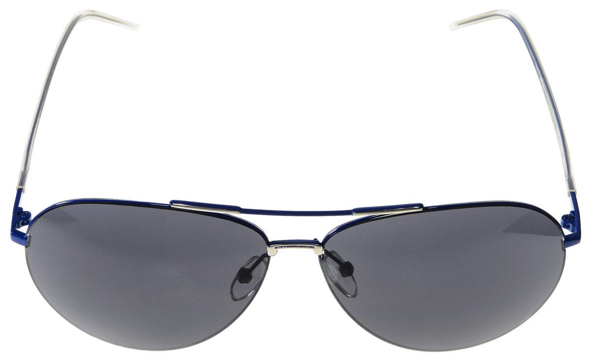 Очки солнцезащитные женские Vitacci, цвет: синий. G130G130Стильные солнцезащитные очки Vitacci выполнены из металла с элементами из высококачественного пластика. Линзы данных очков имеют степень затемнения С1, а также обладают высокоэффективным поляризационным покрытием со степенью защиты от ультрафиолетового излучения UV400. Используемый пластик не искажает изображение, не подвержен нагреванию и вредному воздействию солнечных лучей. Оправа очков легкая, прилегающей формы, дополнена носоупорами и поэтому обеспечивает максимальный комфорт. Такие очки защитят глаза от ультрафиолетовых лучей, подчеркнут вашу индивидуальность и сделают ваш образ завершенным.