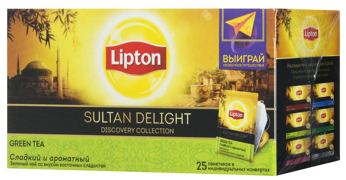 Lipton Зеленый чай Sultan Delight 25 шт