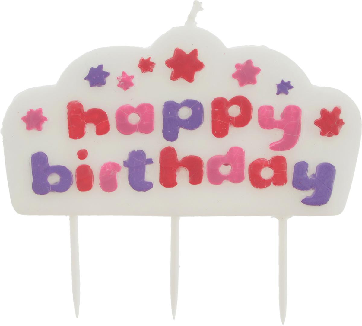 Свеча для торта Tescoma Delicia Kids. Happy Birthday, цвет: белый, розовый631002_белый, розовыйСвеча для торта Tescoma Delicia Kids. Happy Birthday изготовлена из высококачественного парафина, фитиль - натуральное волокно. Это отличное решение для декорирования торта к празднику. Свеча горит в течение 5 минут. С этой свечой ваш праздник станет еще удивительнее и веселее. Высота свечи (без учета иглы): 5 см. Необходимо соблюдать меры предосторожности: не оставляйте без присмотра детей рядом с горящей свечой.