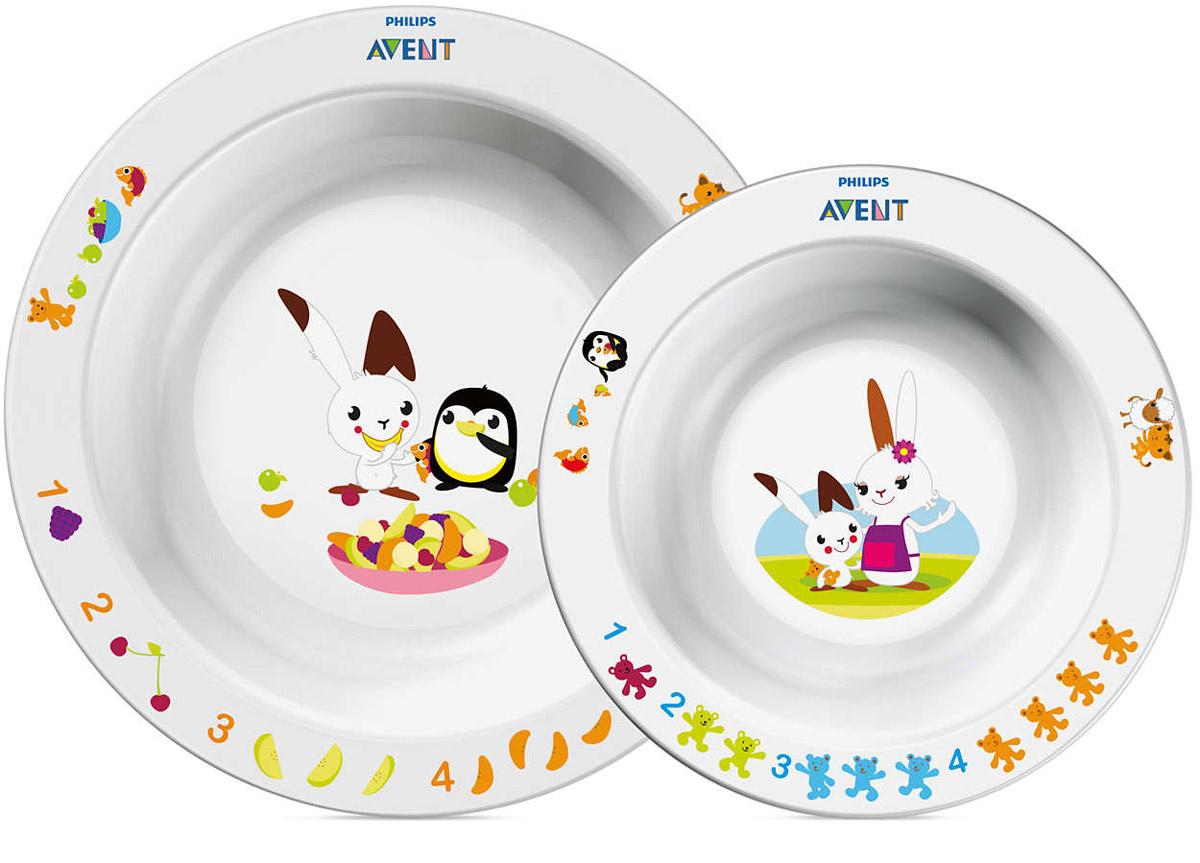 Philips Avent Глубокая тарелка 230 мл, глубокая тарелка 450 мл SCF708/00