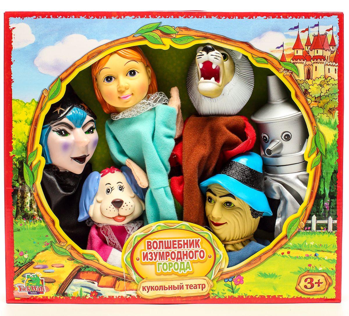 Yick Wah Кукольный театр Волшебник Изумудного города7142/8SКукольный театр создан на основе всем известной сказки.Набор состоит из 6-и кукол-марионеток большого размера,одевающихся на кисть руки.Куклы обладают высокой прочностью,безопасностью.Доставляют малышам масс приятных и радостных эмоций