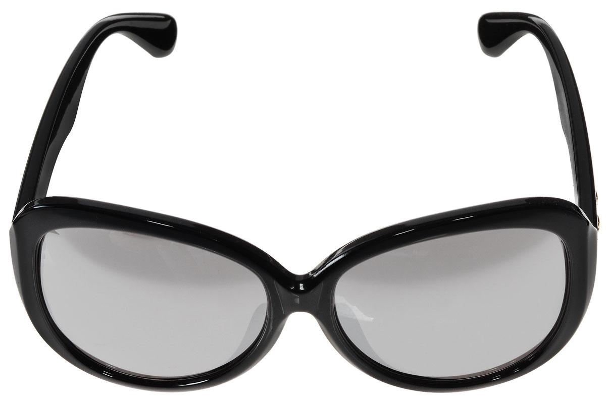 Очки солнцезащитные женские Vitacci, цвет: черный. O148O148Стильные солнцезащитные очки Vitacci выполнены из высококачественного пластика с элементами из металла. Линзы данных очков имеют степень затемнения С2, а также обладают высокоэффективным поляризационным покрытием со степенью защиты от ультрафиолетового излучения UV400. Используемый пластик не искажает изображение, не подвержен нагреванию и вредному воздействию солнечных лучей. Пластиковая оправа очков легкая, прилегающей формы и поэтому обеспечивает максимальный комфорт. Дужки оформлены декоративными элементами в виде звезд. Такие очки защитят глаза от ультрафиолетовых лучей, подчеркнут вашу индивидуальность и сделают ваш образ завершенным.