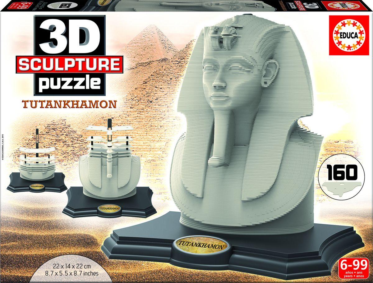 Educa Пазл Тутанхамон165033D Скульптурный пазл 160 Тутанхамон. Размер собранного пазла 22х14х22 см.