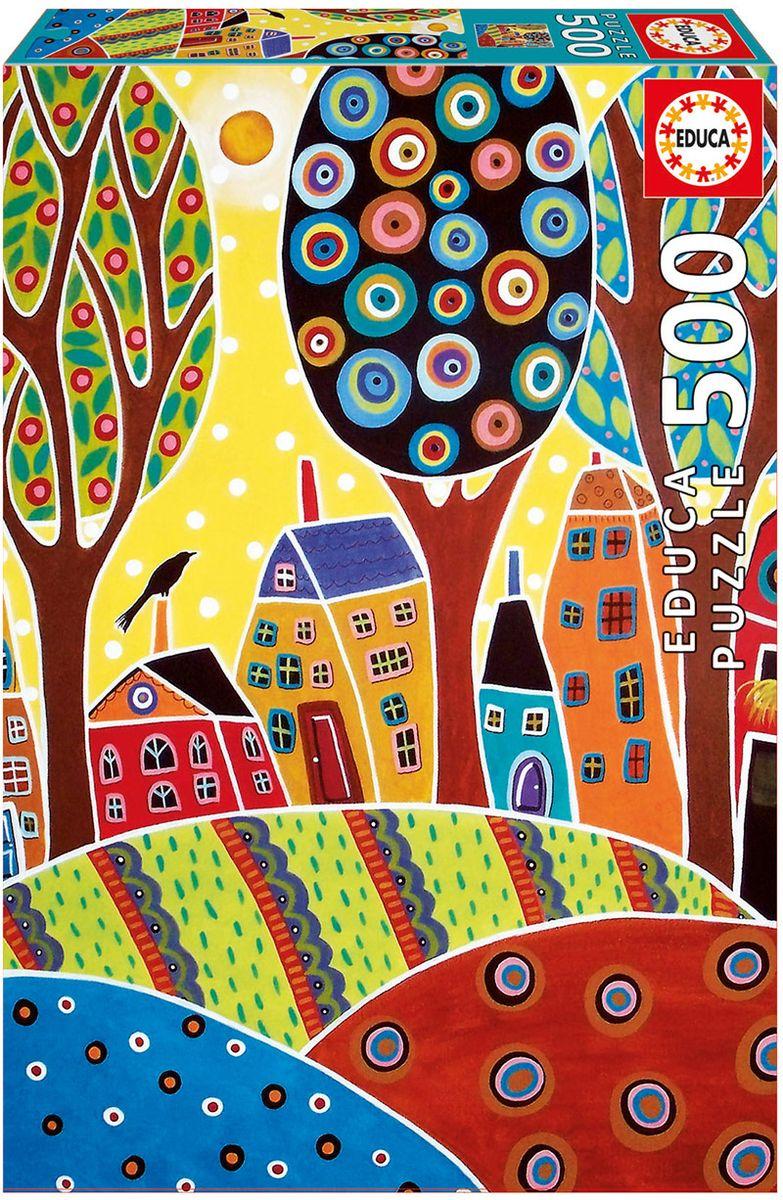 Educa Пазл Пейзаж с домиками Карла Жерар16732Пазл 500 деталей Пейзаж с домиками, Карла Жерар. Размер собранного пазла 48х34см