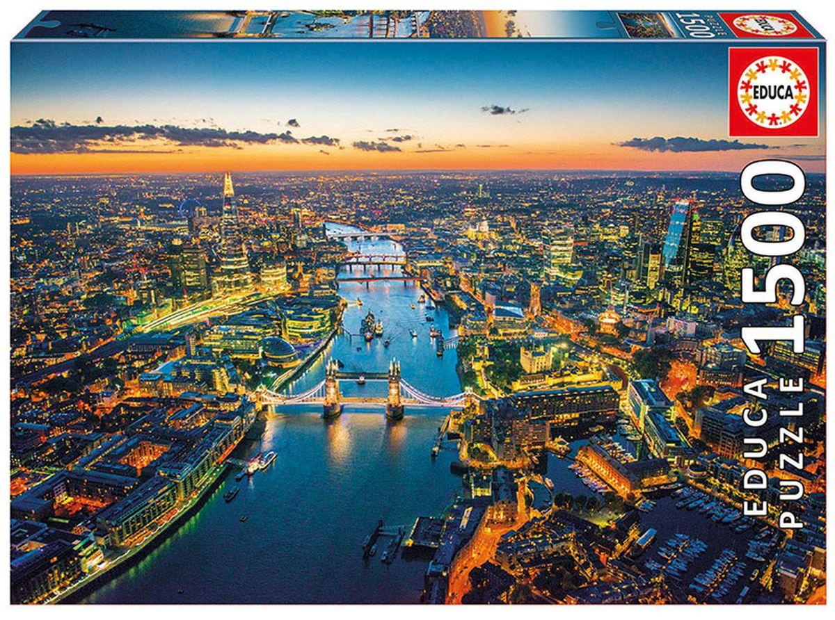 Educa Пазл Лондон с высоты птичьего полета16765Пазл 1500 деталей Лондон с высоты птичьего полета. Размер собранного пазла 85х60см