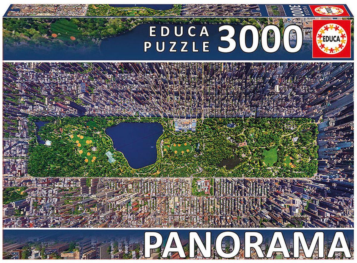 Educa Пазл-панорама Центральный парк Нью-Йорк16781Пазл-панорама 3000 деталей Центральный парк, Нью-Йорк. Размер собранного пазла 144х68см