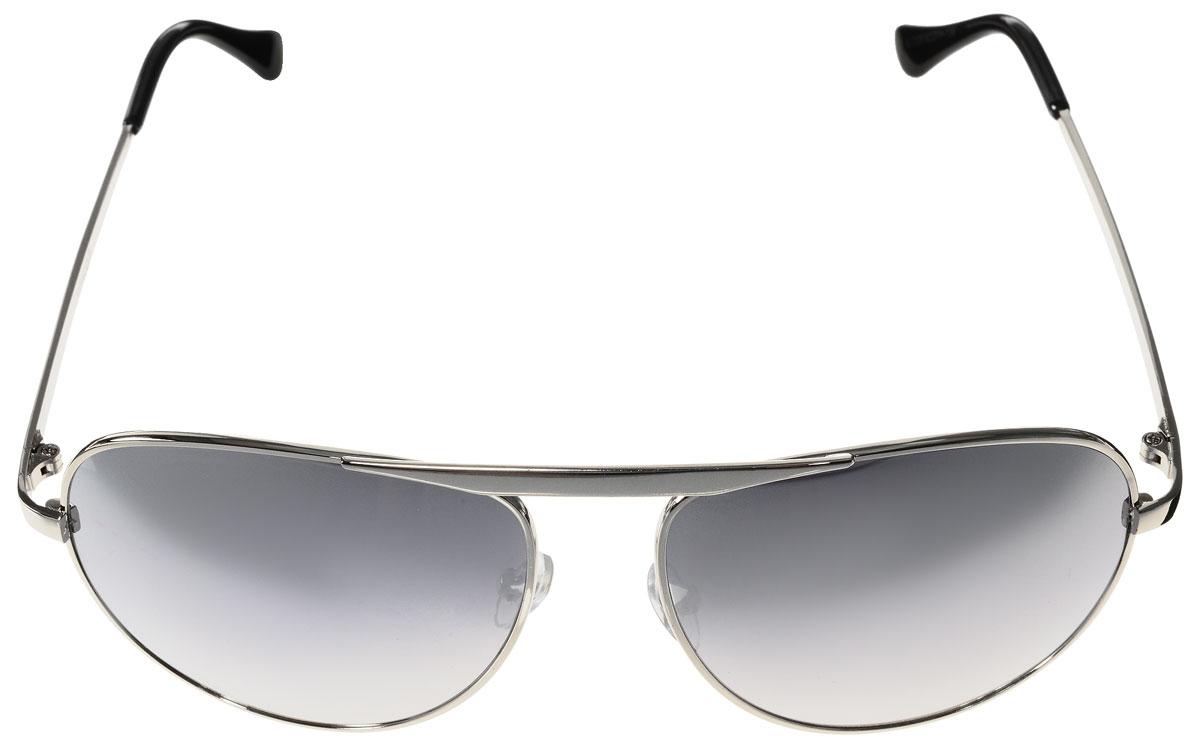 Очки солнцезащитные женские Vitacci, цвет: серебряный, черный. H23H23Стильные солнцезащитные очки Vitacci выполнены из металла с элементами из высококачественного пластика. Линзы данных очков обладают высокоэффективным поляризационным покрытием со степенью защиты от ультрафиолетового излучения UV400. Используемый пластик не искажает изображение, не подвержен нагреванию и вредному воздействию солнечных лучей. Оправа очков легкая, прилегающей формы, дополнена носоупорами и поэтому обеспечивает максимальный комфорт. Такие очки защитят глаза от ультрафиолетовых лучей, подчеркнут вашу индивидуальность и сделают ваш образ завершенным.