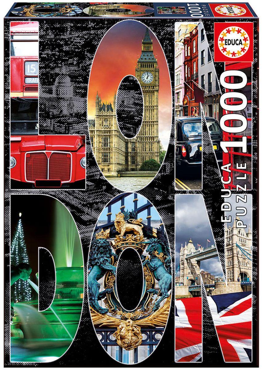 Educa Пазл Лондон16786Пазл 1000 деталей Лондон, коллаж. Размер собранного пазла 68х48см