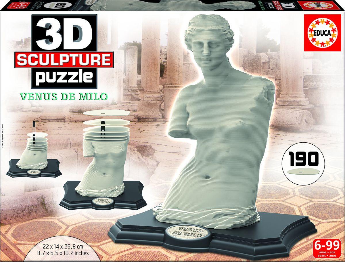 Educa Пазл Венера Милосская165043D Скульптурный пазл 190 Венера Милосская. Размер собранного пазла 22х14х25,8см