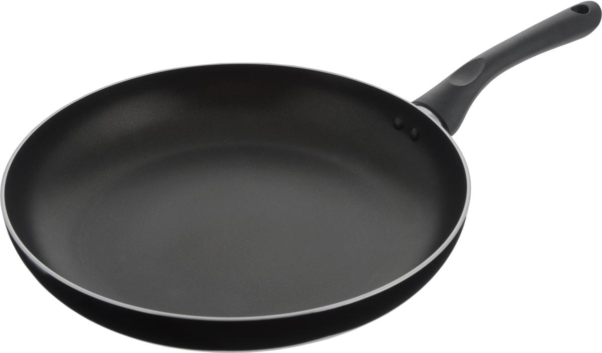 Сковорода Bekker, с антипригарным покрытием, цвет: черный. Диаметр 30 см. BK-3748BK-3748_черныйСковорода Bekker изготовлена из алюминия с внутренним антипригарным покрытием Xylan Plus. Благодаря этому пища не пригорает и не прилипает к стенкам. Готовить можно с минимальным количеством масла и жиров. Гладкая поверхность обеспечивает легкость ухода за посудой. Внешнее покрытие - цветной жаростойкий лак. Изделие оснащено удобной бакелитовой ручкой, которая не нагревается в процессе готовки. Сковорода подходит для использования на газовых, электрических и стеклокерамических плитах, кроме индукционных. Можно мыть в посудомоечной машине. Диаметр сковороды (по верхнему краю): 30 см. Высота стенки: 5 см. Длина ручки: 18,2 см.