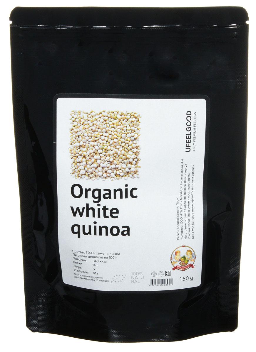 UFEELGOOD Organic White Quinoa органические семена киноа белые, 150 г26Благодаря мягкому, слегка ореховому вкусу и неотразимому аромату, органическая Киноа (лебеда) - это очень популярная еда. А также эта мать зерна ценится за огромное содержание питательных веществ. Приготовленные семена киноа похожи на рис и кус-кус, но они намного питательнее. Попробуйте заменить на киноа эти продукты и использовать различные рецепты - жарки, приготовления супов, запеканки и т.д.