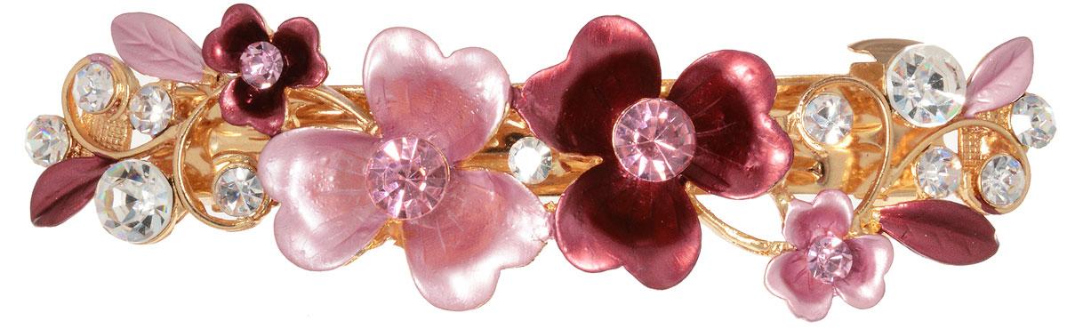 Заколка для волос Migura, цвет: золотой, розовый. NOBZ1382
