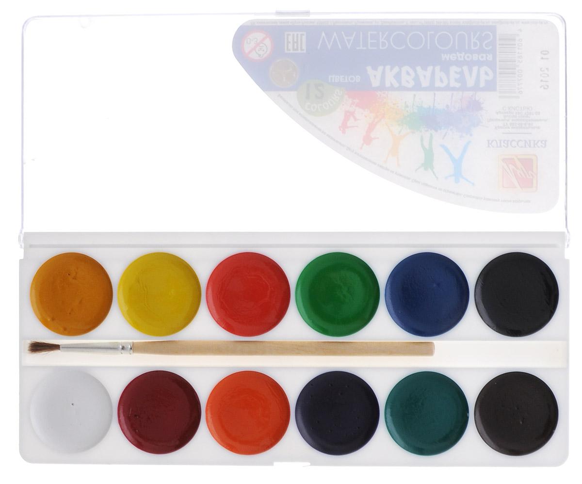 Луч Акварель медовая Классика 12 цветов19С 1287-08Акварель медовая Луч Классика предназначена для выполнения различных эскизных и живописных работ. Краски сохраняют яркость и прозрачность при высыхании. Они быстро высыхают и не портятся со временем. Акварельные краски выпускаются в удобной пластмассовой упаковке с прозрачной крышкой, безопасны для детей, не токсичны. Также в набор входит кисточка.