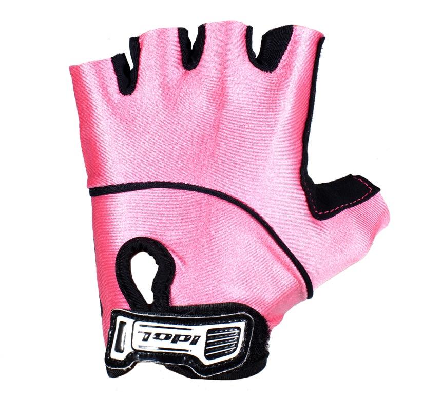 Перчатки велосипедные детские Idol, цвет: черный, розовый. 892. Размер универсальный892Детские велосипедные перчатки без пальцев Idol предназначены для тех, кто занимается велоспортом, велотуризмом или просто катается на велосипеде. Рабочая поверхность велоперчаток выполнена из высококачественной синтетической кожи черного цвета, а верхняя часть - из лайкры, хорошо отводящей влагу и, благодаря своей упругости, плотно сидящей на руке. На запястье перчатка фиксируется прочной липучкой. Высокое качество, технически совершенные материалы, оригинальный стильный дизайн, функциональность и долговечность выделяют велоперчатки Idol среди прочих.