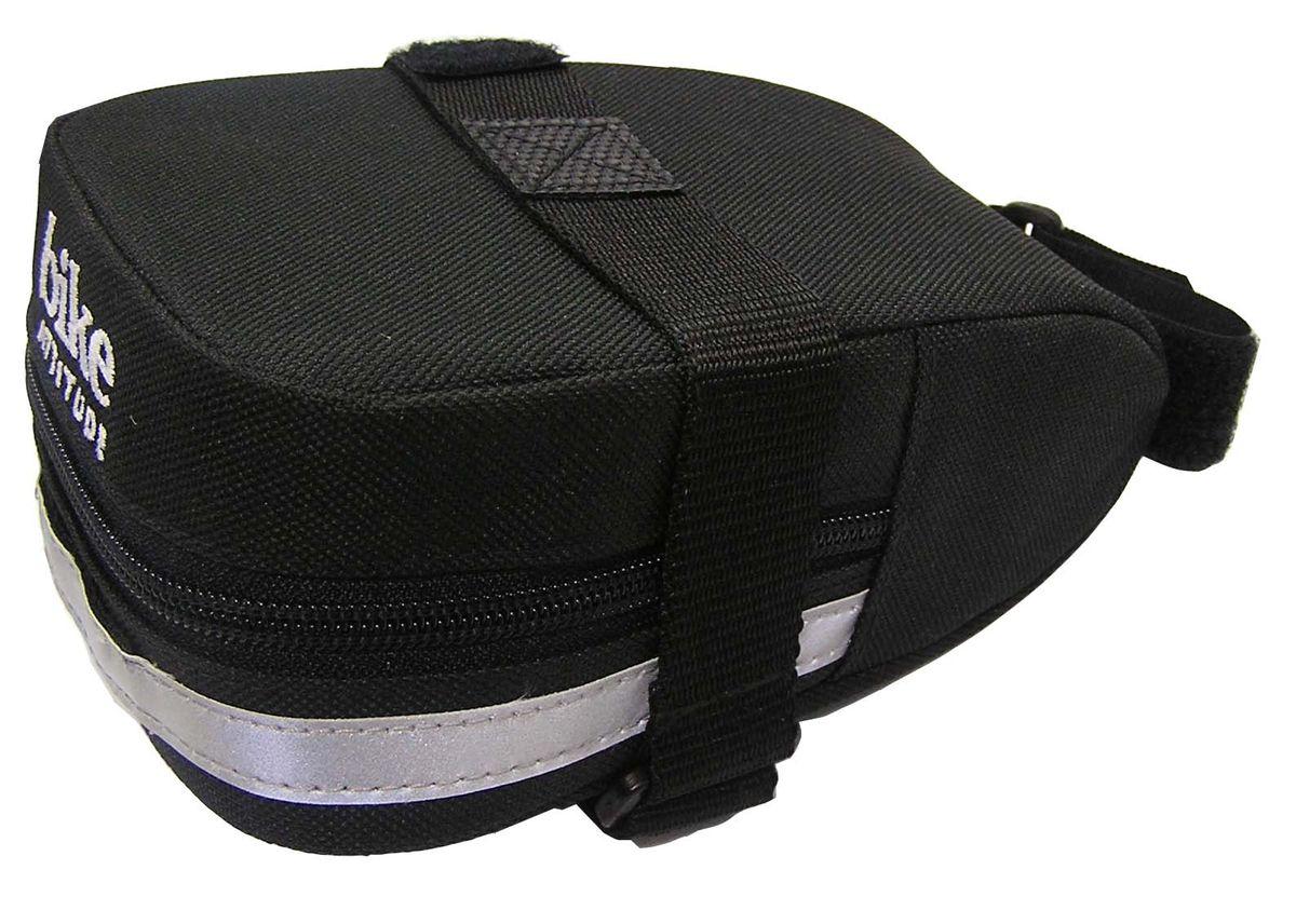 Подседельная сумка Bike Attitude SL3240DBGS-SL3240-BA01Подседельная сумка для велосипеда Bike Attitude SL3240 изготовлена из высококачественного текстиля (полистер). Прорезиненная молния защиты от попадания влаги внутрь. Легкая и быстрая установка на подседельный штырь и рамки седла. Bike Attitude – тайваньский производитель велосипедных аксессуаров, огромный ассортимент велоаксессуаров и велозапчастей. Подседельная сумка Bike Attitude SL3240, цвет черный ОСОБЕННОСТИ: - Сумка изготовлена из полистера - Водонепроницаемая молния - Крепление на душки седла и подседельный штырь