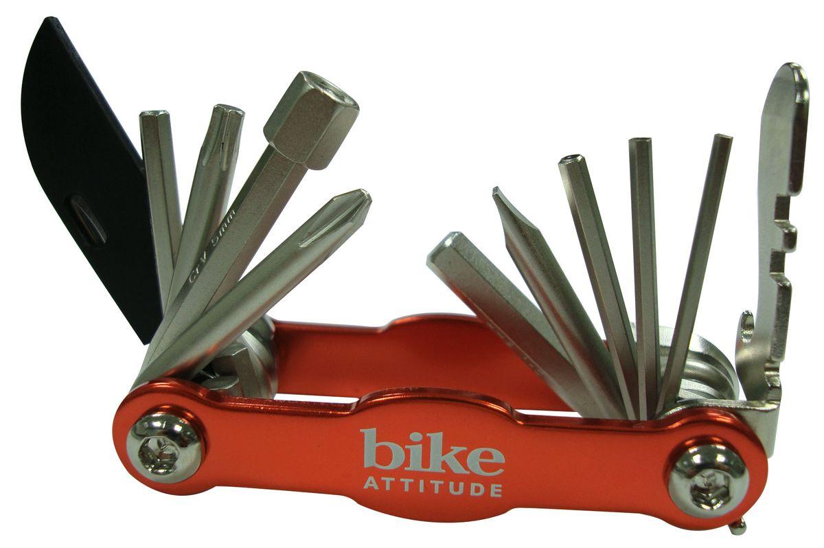 Набор шестигранных ключей Bike Attitude M101TPKDTL0-MT110K-BA001Набор шестигранных ключей Bike Attitude M101TPK ваш надежный помощник при ремонте в дороге. Он небольшой и компактный, незаменимая вещь при велопрогулках и в Вашем хозяйстве. В набор входят 15 ключей разного размера. Bike Attitude – тайваньский производитель велосипедных аксессуаров, огромный ассортимент велоаксессуаров и велозапчастей.Характеристики: Материал: пластик, металл. Размеры ключей: 2 мм, 2,5 мм, 3 мм, 4 мм, 5 мм, 6 мм, 8 мм, отвертка плоская, отвертка крестовая, отверка phillips, торкс ключ T25, нож, открывашка для бутылок.
