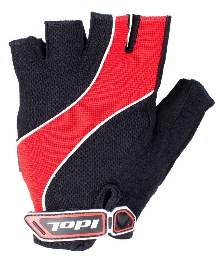"""Перчатки велосипедные """"Idol"""", цвет: черный, красный. 1502. Размер XL"""