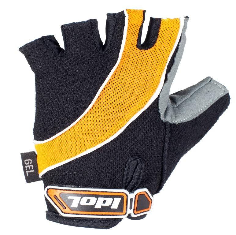 Перчатки велосипедные Idol, цвет: черный, оранжевый. 1530. Размер L1530Велосипедные перчатки без пальцев Idol предназначены для тех, кто занимается велоспортом, велотуризмом или просто катается на велосипеде. Рабочая поверхность велоперчаток выполнена из высококачественной синтетической кожи, а верхняя часть - из лайкры, хорошо отводящей влагу и, благодаря своей упругости, плотно сидящей на руке. На запястье перчатка фиксируется прочной липучкой. Высокое качество, технически совершенные материалы, оригинальный стильный дизайн, функциональность и долговечность выделяют велоперчатки Idol среди прочих.