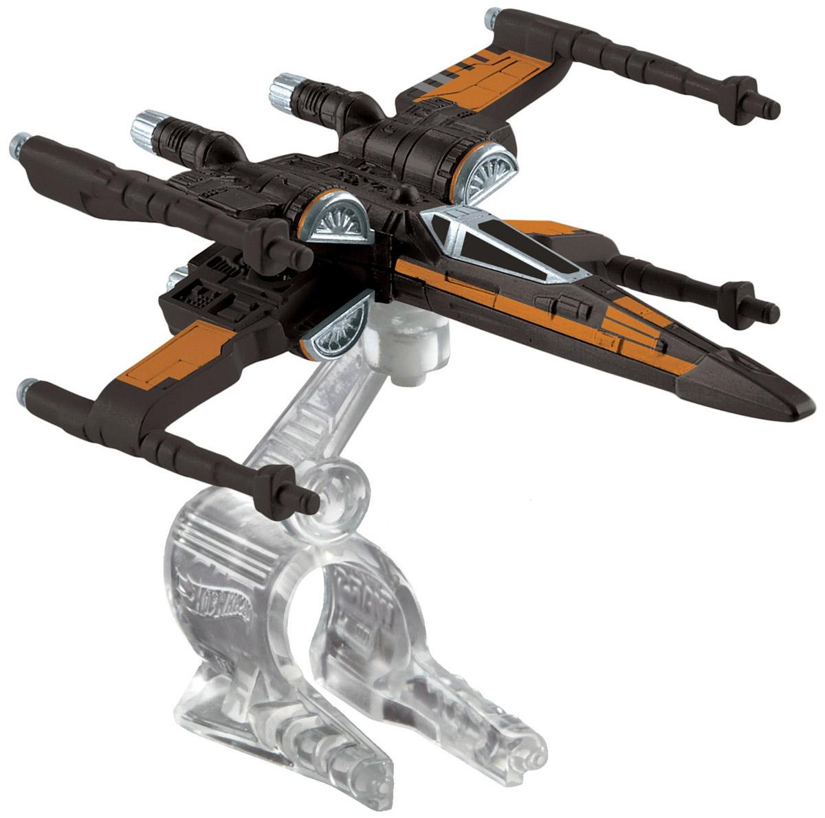 Hot Wheels Star Wars Звездный корабль Poes X-Wing FighterCGW52_DMP63Звездный корабль Hot Wheels Poes X-Wing Fighter непременно приведет в восторг поклонника фантастической саги Звездные воины. В комплекте звездный корабль и подставка. Надевайте на руку устройство Flight Navigator и запускайте корабль в полет по комнате, прямо как в гиперпространстве, или устраивайте яростные космические сражения. Flight Navigator можно также использовать как подставку для игрушек. Звездолеты совместимы с игровыми наборами Hot Wheels Star Wars (продаются отдельно).