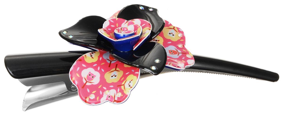 Зажим для волос Migura, цвет: розовый, синий, черный. NOBG0035