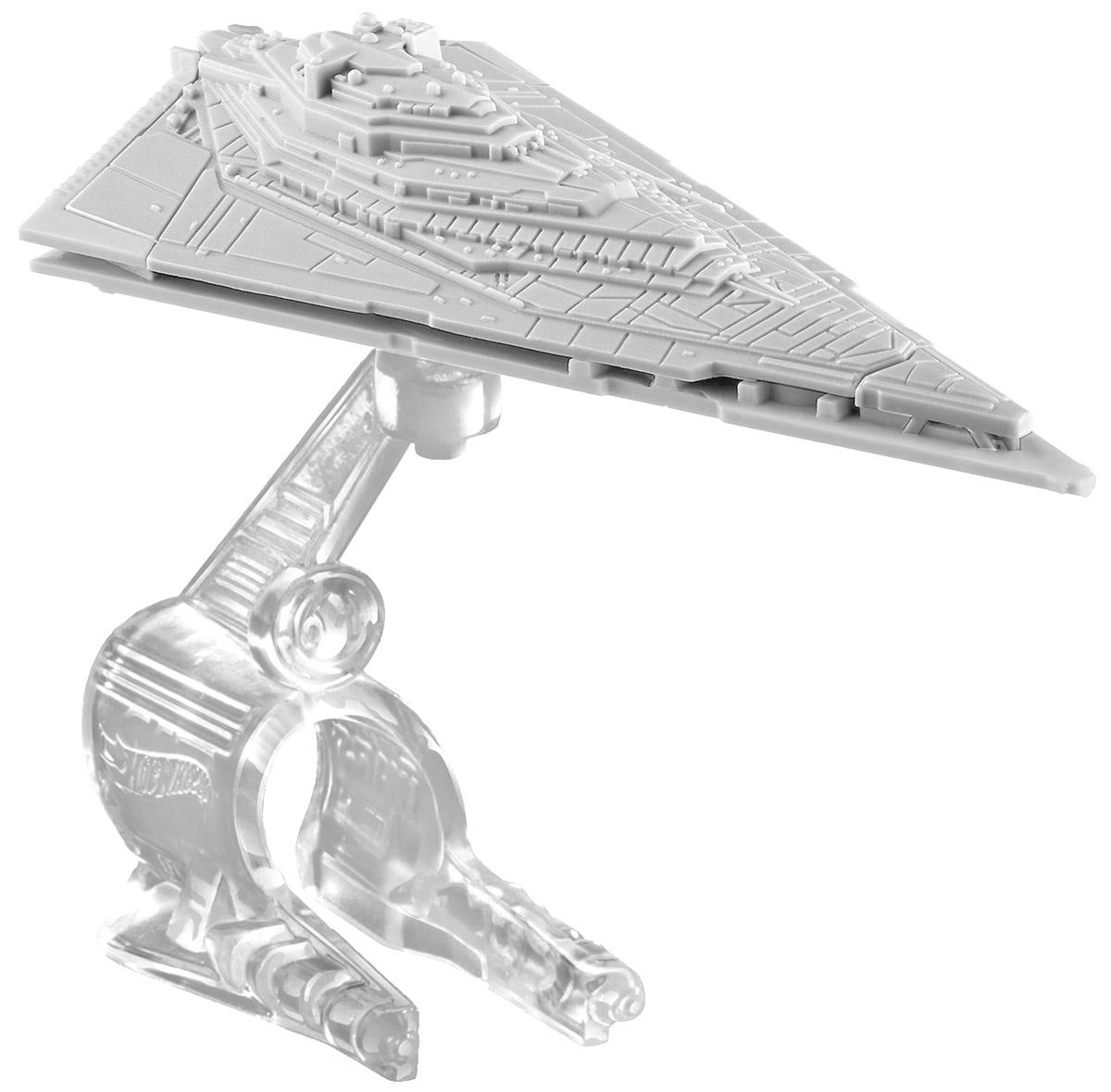 Hot Wheels Star Wars Звездный корабль First Order Star DestroyerCGW52_CKJ72Звездный корабль Hot Wheels First Order Star Destroyer непременно приведет в восторг поклонника фантастической саги Звездные воины. В комплекте звездный корабль и подставка. Надевайте на руку устройство Flight Navigator и запускайте корабль в полет по комнате, прямо как в гиперпространстве, или устраивайте яростные космические сражения. Flight Navigator можно также использовать как подставку для игрушек. Звездолеты совместимы с игровыми наборами Hot Wheels Star Wars (продаются отдельно).