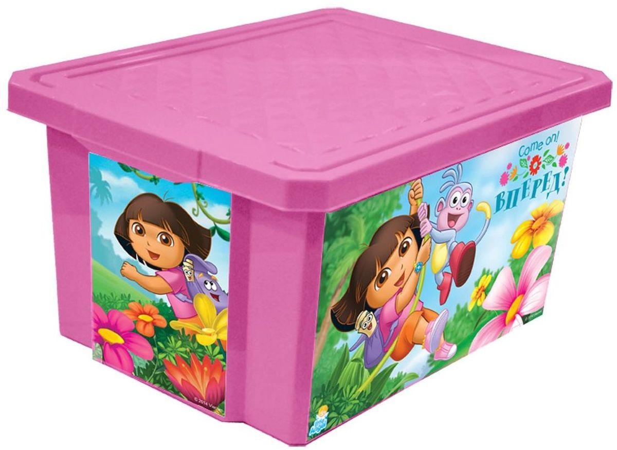 Little Angel Детский ящик для хранения игрушек X-BOX Даша путешественница 17 лLA0023DE1Детский ящик для хранения игрушек Little Angel X-BOX Даша путешественница - лучшее решение для поддержания порядка в детской. Все игрушки собраны в одном месте, а небольшой ящик всегда можно с легкостью переместить. Яркие картинки наполнят детскую комнату радостью и помогут приучить малыша к порядку. Детский ящик для хранения игрушек имеет надежную крышку с привлекательной текстурой. Декор ящика выполнен с помощью износостойкой технологии IML, что придает каркасу дополнительную прочность и позволяет его мыть без опасения испортить рисунок. Декор размещен на всех сторонах ящика.