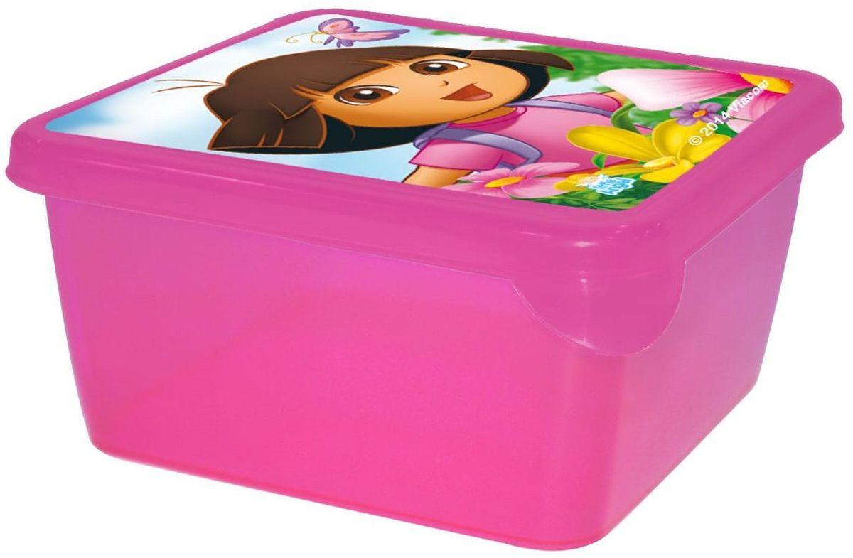 Little Angel Детская емкость для хранения Даша Путешественница 450 мл цвет прозрачныйLA0084DE1Уникальные емкости MINI подходят для хранения всего, что только можно придумать. Они изготовлены из пищевого пластика, поэтому их можно мыть в посудомоечной машине, и они идеально подходят для школьных завтраков. Емкости выдерживают минусовые температуры, поэтому в них можно замораживать ягоды и фрукты. Мы не говорим уже о хранении заколок, карандашей, деталей Лего и других мелких предметов.
