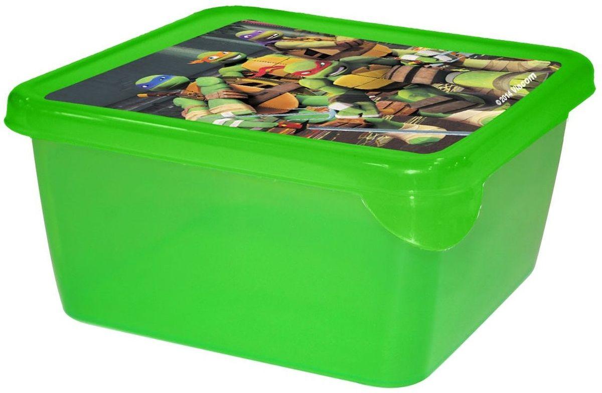 Little Angel Детская емкость для хранения MINI Черепашки Ниндзя 450 мл цвет зеленый ( LA0084TN1 )
