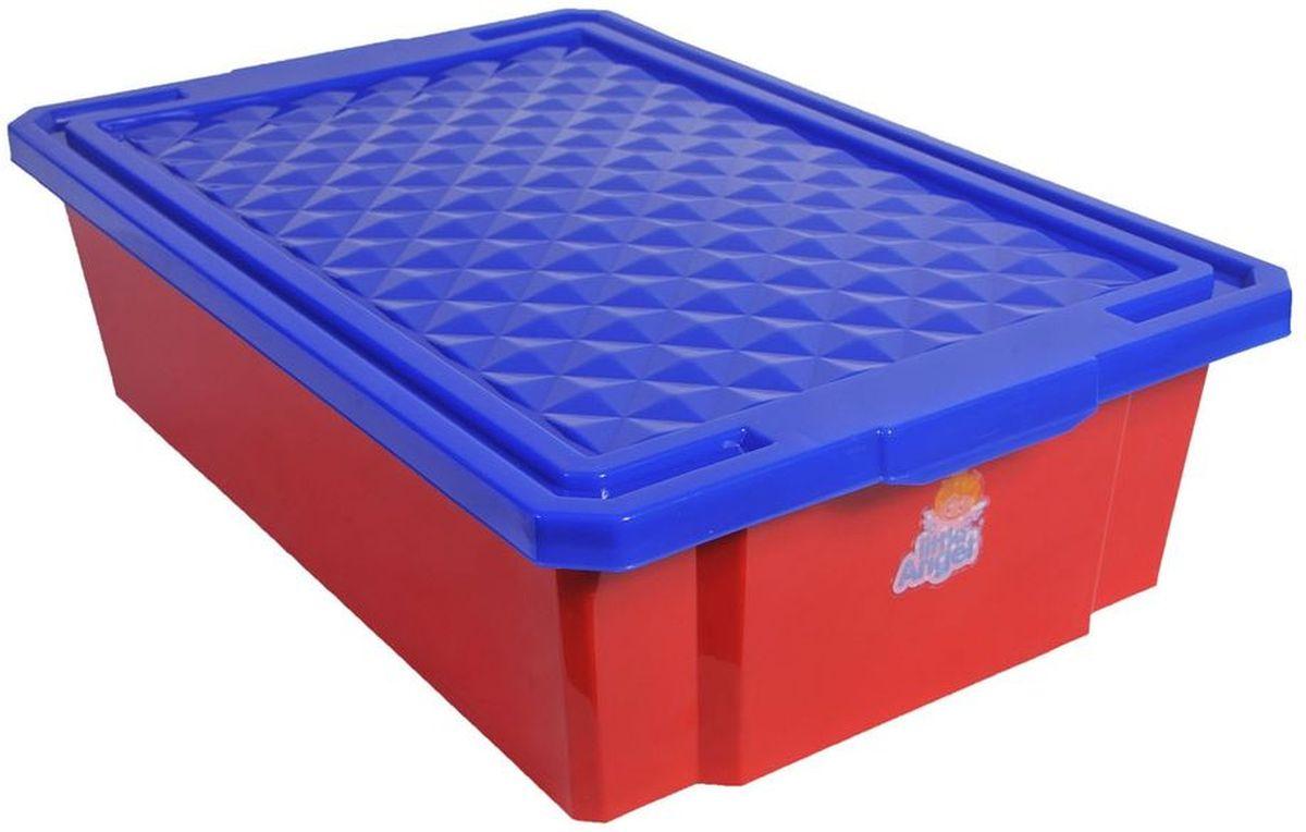 Little Angel Детский ящик для хранения игрушек 30 л цвет красныйLA1018RDВ нашем ящике можно разместить все, что угодно: детские игрушки или одежду. Им легко дополнить интерьер детской комнаты. С нашим ящиком ребенка легко приучить к порядку, так как ящик снабжен встроенными роликами и малышу легко самостоятельно передвигать его по комнате.