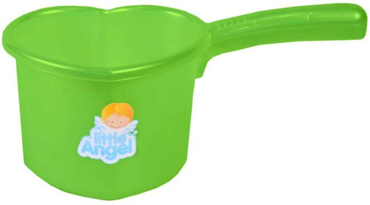 Little Angel Ковшик для детской ванночки цвет салатовый