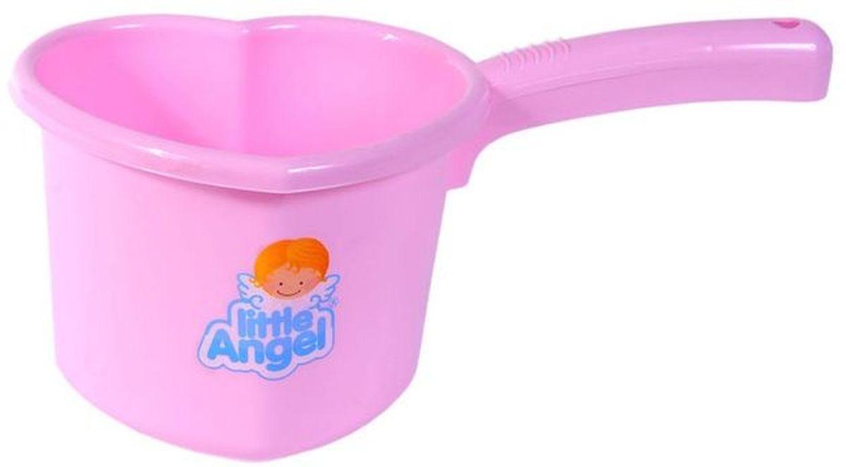Little Angel Ковшик для детской ванночки цвет розовыйLA1022RSКовшик – необходимая вещь во время купания, так как часто нужно дополнительно полить ребенка водой. Ковшик сделан в виде сердечка, имеет привлекательные расцветки, прочный корпус и удобную, нескользящую ручку.