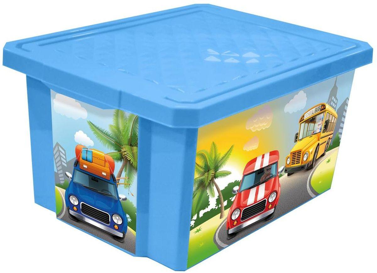 Little Angel Ящик для игрушек X-Box City Cars 17 л цвет голубойLA1023BSДетский ящик для игрушек Little Angel на колесах выполнен из прочного материала и украшен забавным изображением. В нем можно удобно и компактно хранить белье, одежду, обувь или игрушки. Ящик оснащен плотно закрывающейся крышкой, которая защищает вещи от пыли, грязи и влаги. Декор ящика износоустойчив, его можно мыть без опасения испортить рисунок. Прочный каркас ящика позволит хранить как легкие вещи, так и более тяжелый груз. Такой ящик непременно привлечет внимание ребенка и станет незаменимым для хранения игрушек, книжек и других детских принадлежностей. Он отлично впишется в детскую комнату и поможет приучить ребенка к порядку.