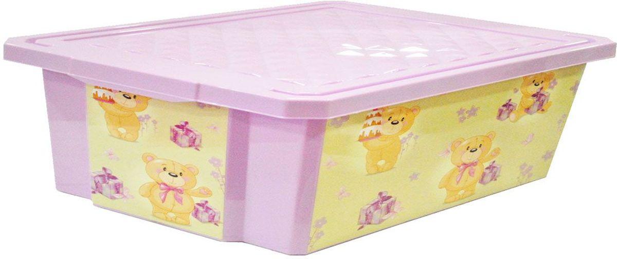 Little Angel Ящик для игрушек X-Box City Bears на колесах 30 л цвет лавандовыйLA1024LVДетский ящик для игрушек Little Angel X-Box на колесах выполнен из прочного материала и украшен забавным изображением. В нем можно удобно и компактно хранить белье, одежду, обувь или игрушки. Ящик оснащен плотно закрывающейся крышкой, которая защищает вещи от пыли, грязи и влаги. Ящик оснащен четырьмя колесами. Декор ящика износоустойчив, его можно мыть без опасения испортить рисунок. Прочный каркас ящика позволит хранить как легкие вещи, так и более тяжелый груз. Такой ящик непременно привлечет внимание ребенка и станет незаменимым для хранения игрушек, книжек и других детских принадлежностей. Он отлично впишется в детскую комнату и поможет приучить ребенка к порядку.