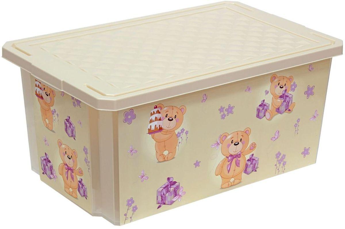 Little Angel Ящик для игрушек X-Box Bears 12 л цвет слоновая костьLA1026IRДетский ящик для игрушек Little Angel на колесах выполнен из прочного материала и украшен забавным изображением. В нем можно удобно и компактно хранить белье, одежду, обувь или игрушки. Ящик оснащен плотно закрывающейся крышкой, которая защищает вещи от пыли, грязи и влаги. Декор ящика износоустойчив, его можно мыть без опасения испортить рисунок. Прочный каркас ящика позволит хранить как легкие вещи, так и более тяжелый груз. Такой ящик непременно привлечет внимание ребенка и станет незаменимым для хранения игрушек, книжек и других детских принадлежностей. Он отлично впишется в детскую комнату и поможет приучить ребенка к порядку.