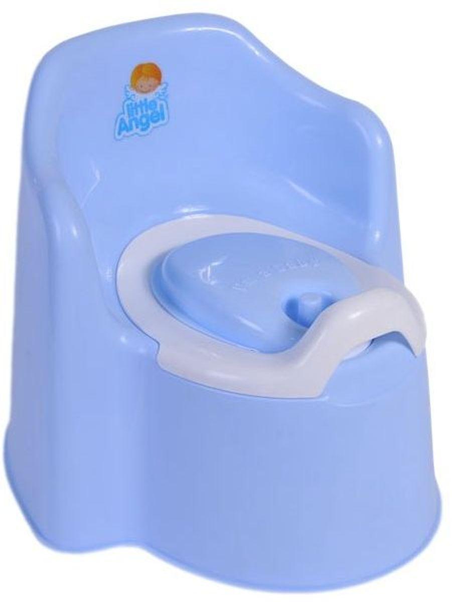 Little Angel Горшок детский Little King с крышкой цвет голубой пастельный