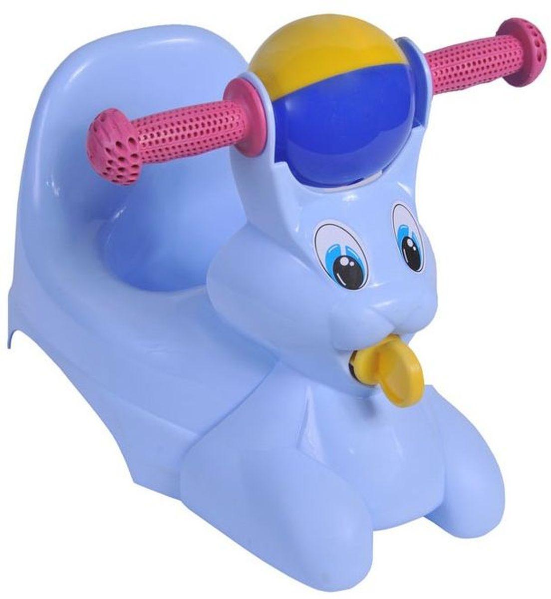Little Angel Горшок-игрушка Зайчик цвет голубой пастельный