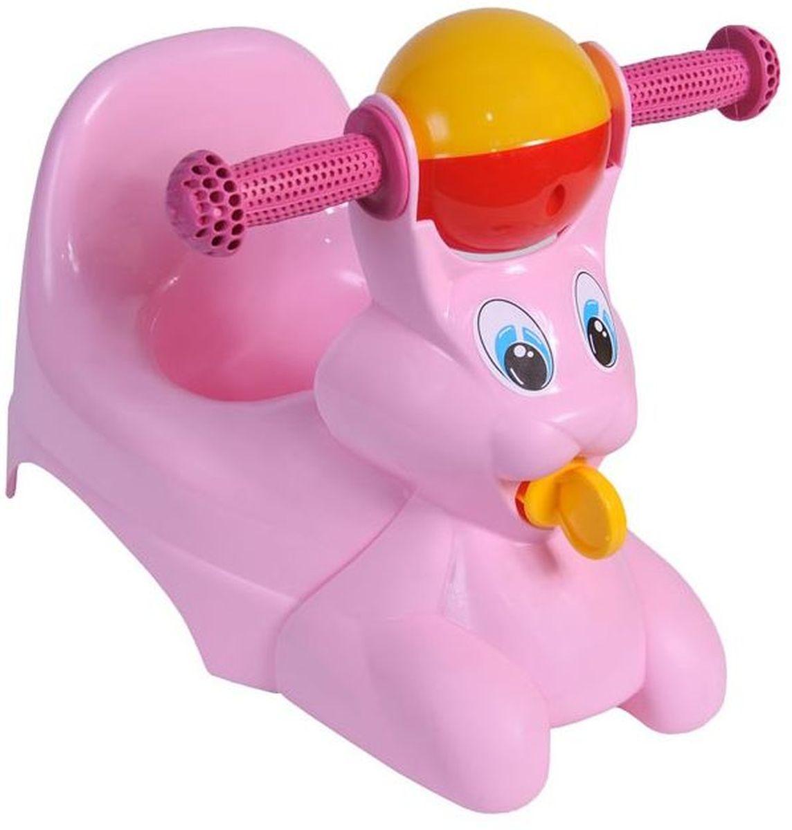 Little Angel Горшок-игрушка Зайчик цвет розовыйLA2710RSВеселое развлечение может иметь место, даже когда ребенок сидит на горшке. В этом поможет наш детский горшок-игрушка в виде зайчика. Красивые, большие глазки уже наклеены на фигурку, которая крепится к корпусу горшка с помощью специального держателя. Игрушка легко снимается – это позволяет мыть горшок и фигурку отдельно, а также использовать горшок без игрушки. Две ручки выполнены из мягкого пластика, поэтому ваш ребенок не поранится. Разноцветная погремушка перед глазами ребенка сконцентрирует его внимание.