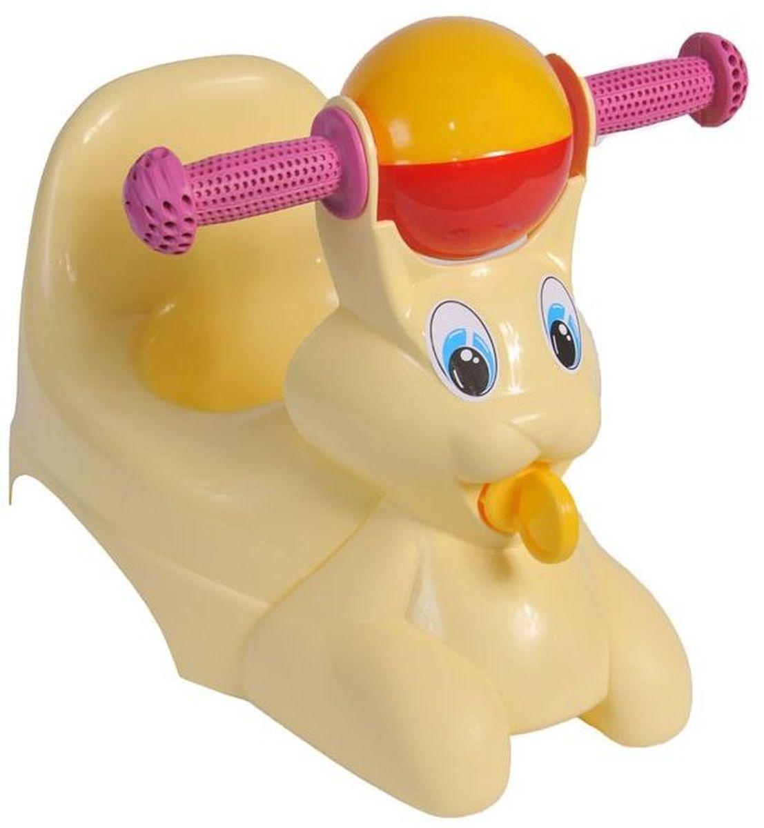 Little Angel Горшок-игрушка Зайчик цвет желтый пастельный