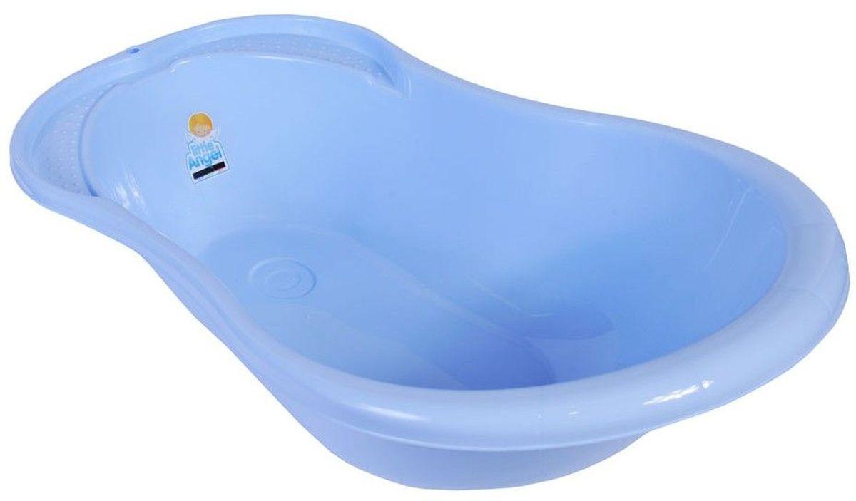Little Angel Ванночка детская Ангел с термометром 84 см цвет голубой пастельныйLA4102BLПредназначена для детей от 0 до 9 месяцев, размер - 84 см. Ванночка Ангел имеет анатомическую форму, сглаженные борта для безопасности малыша, специальные углубления для ванных принадлежностей, нескользящие ножки, встроенный термометр для контроля температуры воды.