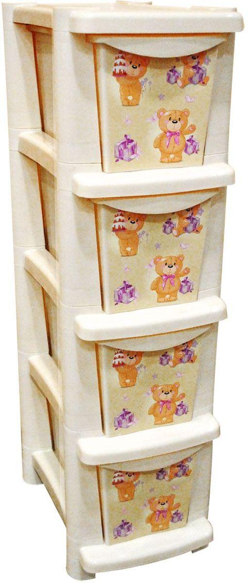 Little Angel Детский комод Bears 4 ящикаLA4703IRВместительный, современный и удобный дизайн комода идеально подойдет для детской комнаты. Сглаженные углы и облегченная конструкция комода безопасны даже для самых активных малышей. Спокойные пастельные цвета комода станут прекрасным дополнением для детской комнаты.